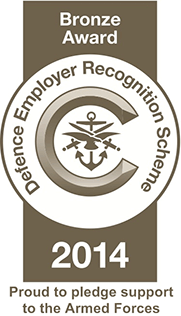 Defence Employer Recognition Scheme Bronze Award 2014